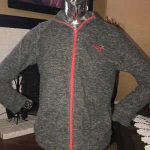 Gray red puma jackets